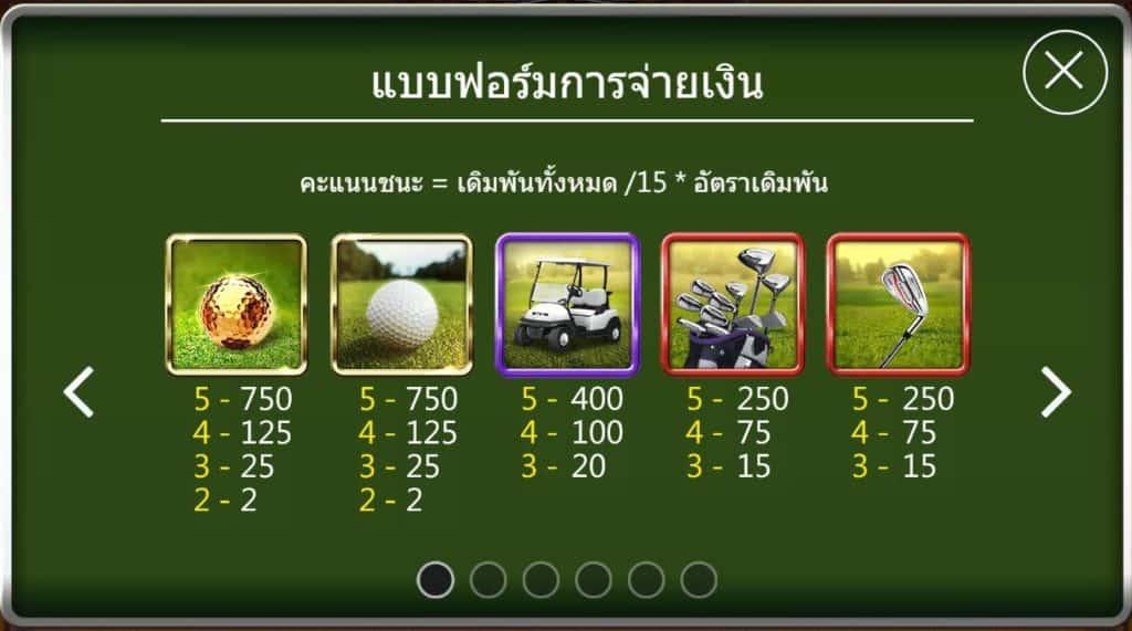มุ่งสู่สนามสีเขียวที่พร้อม เกม Golf